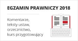 Egzamin adwokacki i radcowski 2018