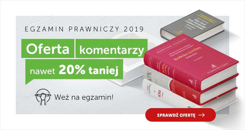 Egzamin prawniczy 2019 - Komentarze