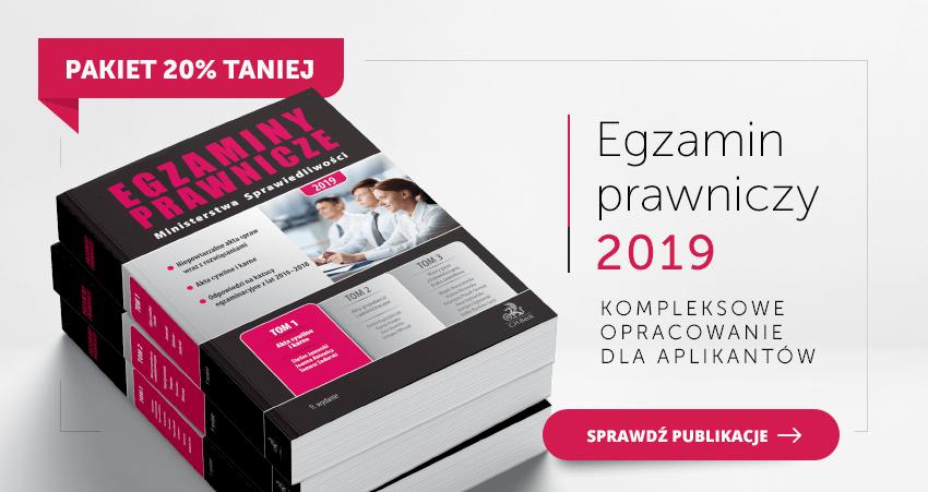 PAKIET: Egzaminy Prawnicze Ministerstwa Sprawiedliwości 2019. Tom 1-3