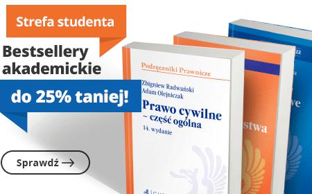 Bestsellery akademickie 25% taniej!