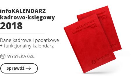 infoKALENDARZ kadrowo-księgowy 2018