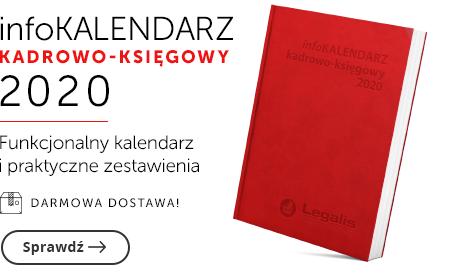 infoKALENDARZ kadrowo-księgowy 2020