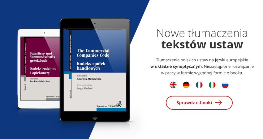 Nowe tłumaczenia tekstów ustaw