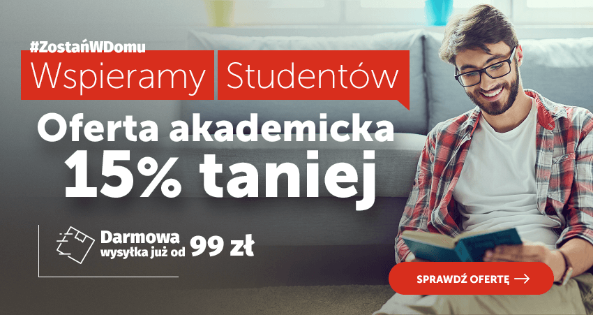 Wspieramy Studentów. Wszystko 15% taniej