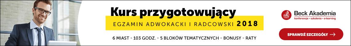 Kurs przygotowujący do egzaminu radcowskiego i adwokackiego 2018