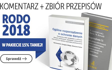 MG1 RODO 2018 Komentarz + Zbiór przepisów