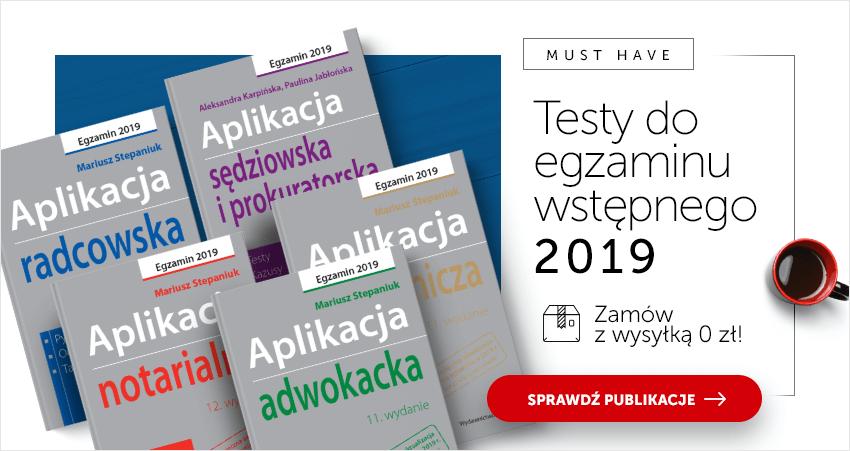 Testy do egzaminu wstępnego 2019