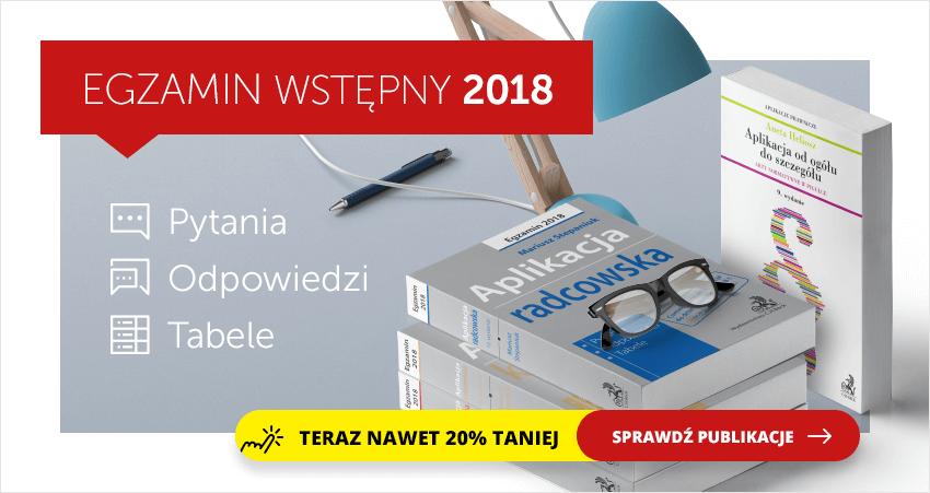 Egzamin wstępny na aplikacje 2018