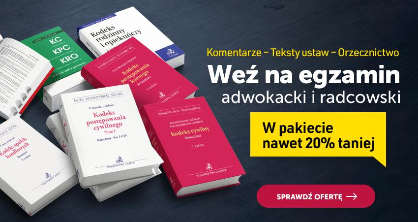 Weź na egzamin adwokacki i radcowski 2021
