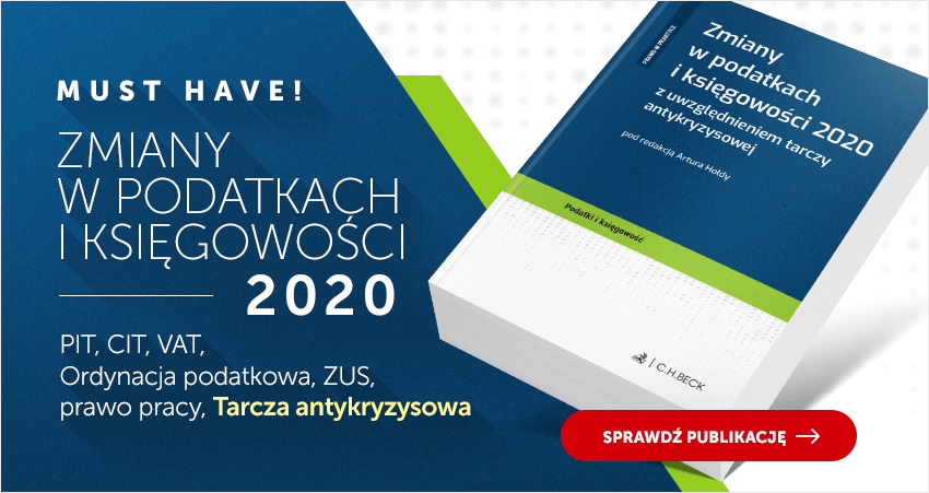 Zmiany w podatkach i księgowości 2020