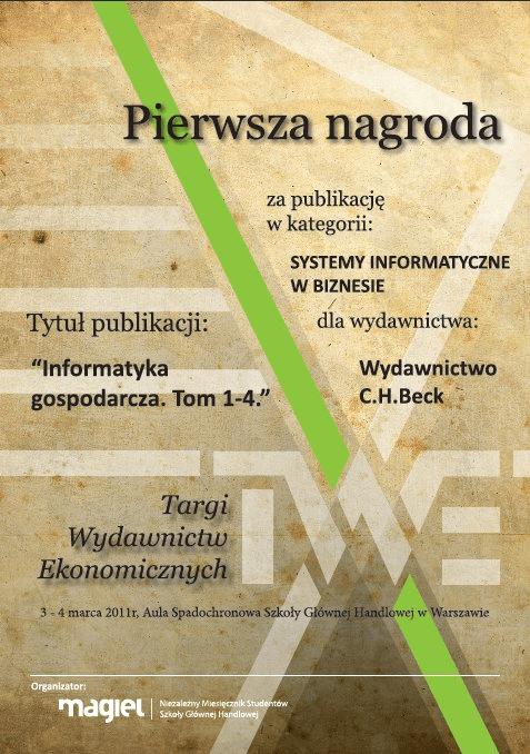 Komplet Twarda Oprawa - Informatyka gospodarcza. Tom I-IV + futerał - 50% TANIEJ