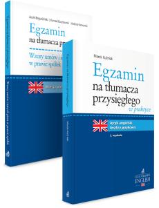 PAKIET: Egzamin na tłumacza przysięgłego w praktyce + Wzory umów i innych pism w prawie spółek. Język angielski