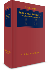 Institutional Arbitration. A Commentary