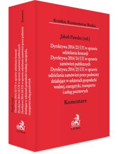 Dyrektywa 2014/23/UE w sprawie udzielania koncesji. Dyrektywa 2014/24/UE w sprawie zamówień publicznych. Dyrektywa 2014/25/UE w sprawie udzielania zamówień przez podmioty działające w sektorach gospodarki wodnej, energetyki, transportu i usług pocztowych