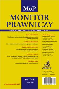 Monitor Prawniczy Nr 9/2019