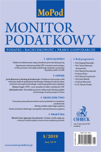 Monitor Podatkowy Nr 5/2019