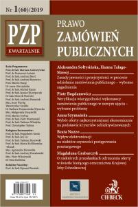 PZP Prawo zamówień publicznych - kwartalnik Nr 1/2019