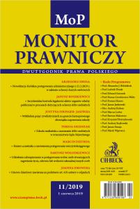 Monitor Prawniczy Nr 11/2019
