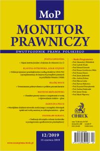 Monitor Prawniczy Nr 12/2019
