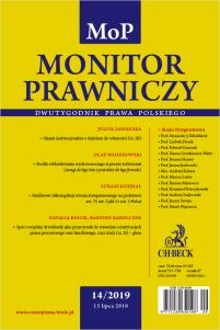 Monitor Prawniczy Nr 14/2019