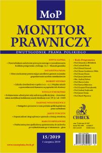 Monitor Prawniczy Nr 15/2019