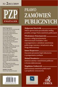PZP Prawo zamówień publicznych - kwartalnik Nr 2/2019