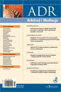 ADR Arbitraż i Mediacja - kwartalnik - numer 3/2019