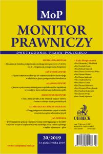 Monitor Prawniczy Nr 20/2019