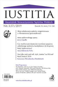 Iustitia. Kwartalnik Stowarzyszenia Sędziów Polskich Nr 3(37)/2019