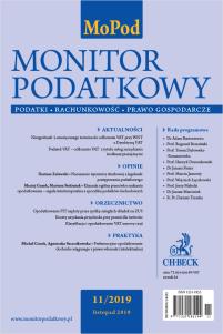 Monitor Podatkowy Nr 11/2019
