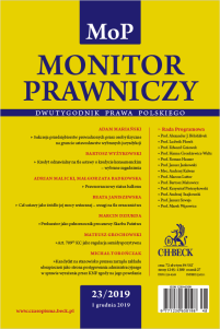 Monitor Prawniczy Nr 23/2019