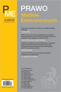 Prawo Mediów Elektronicznych Nr 3/2019