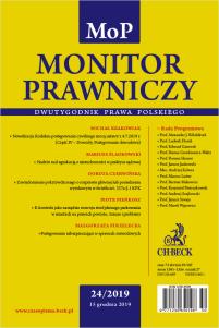 Monitor Prawniczy Nr 24/2019