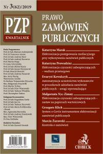PZP Prawo zamówień publicznych - kwartalnik Nr 3/2019