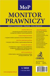 Monitor Prawniczy Nr 1/2020