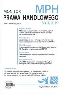 Monitor Prawa Handlowego Nr 3/2019