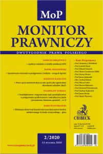 Monitor Prawniczy Nr 2/2020