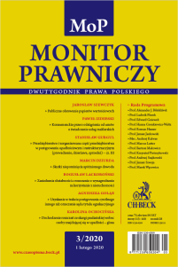Monitor Prawniczy Nr 3/2020
