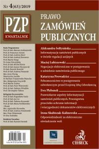 PZP Prawo zamówień publicznych - kwartalnik Nr 4/2019