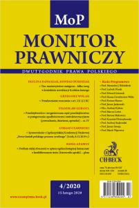 Monitor Prawniczy Nr 4/2020
