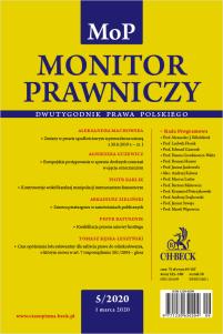 Monitor Prawniczy Nr 5/2020