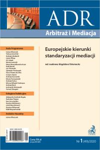 ADR Arbitraż i Mediacja - kwartalnik - numer 1/2020