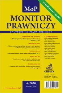 Monitor Prawniczy 6/2020 + dodatek specjalny: Nowelizacja KPC