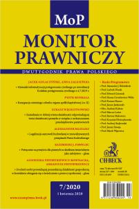 Monitor Prawniczy Nr 7/2020