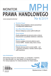 Monitor Prawa Handlowego Nr 4/2019