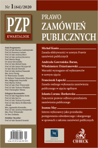 PZP Prawo Zamówień Publicznych - kwartalnik Nr 1/2020