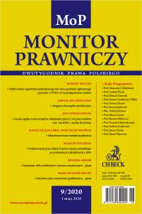 Monitor Prawniczy Nr 9/2020