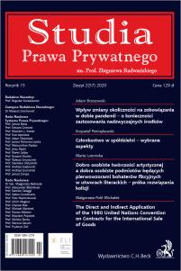 Studia Prawa Prywatnego Zeszyt 2/2020