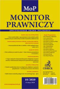 Monitor Prawniczy Nr 10/2020