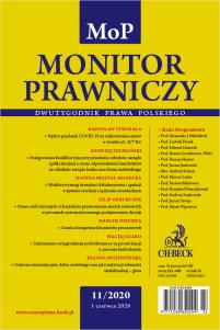 Monitor Prawniczy Nr 11/2020